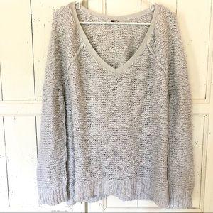 Free people oversize chunky knit sweater medium